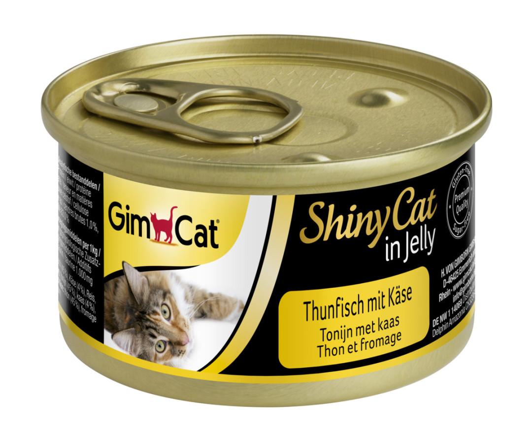 GimCat kattenvoer ShinyCat in jelly tonijn met kaas 70 gr