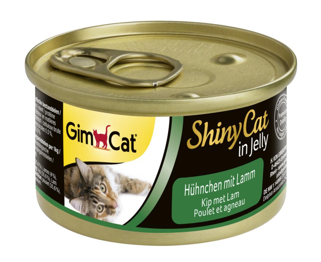 GimCat kattenvoer ShinyCat in Jelly kip met lam 70 gr