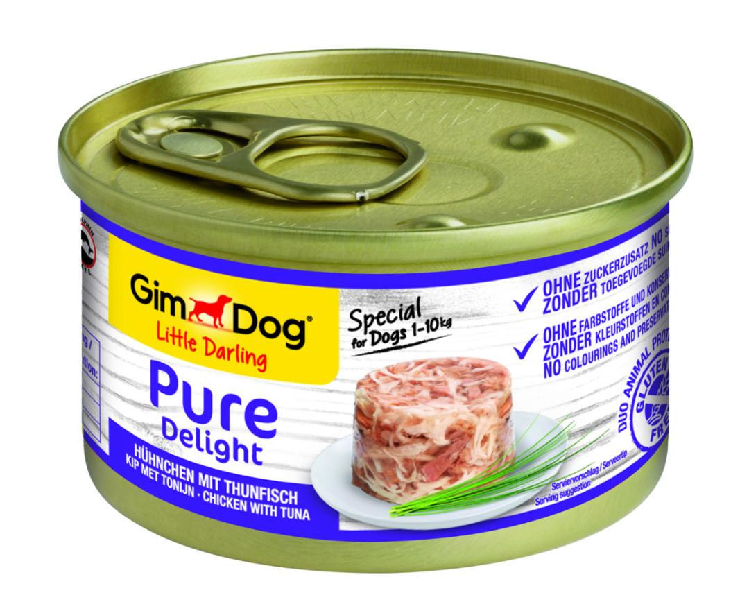 GimDog hondenvoer Little Darling Pure Delight kip/tonijn 85 gr