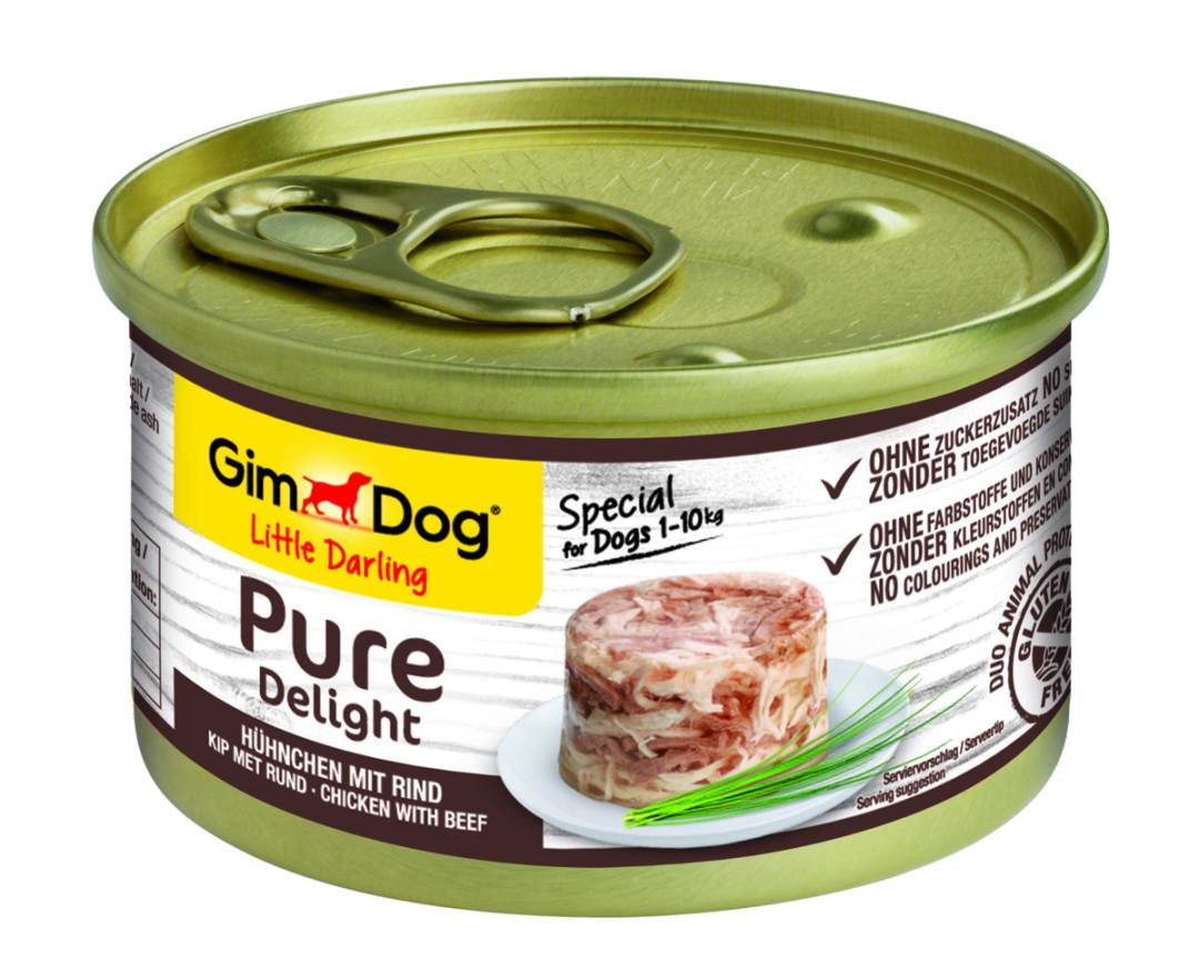 GimDog hondenvoer Little Darling Pure Delight kip/rund 85 gr