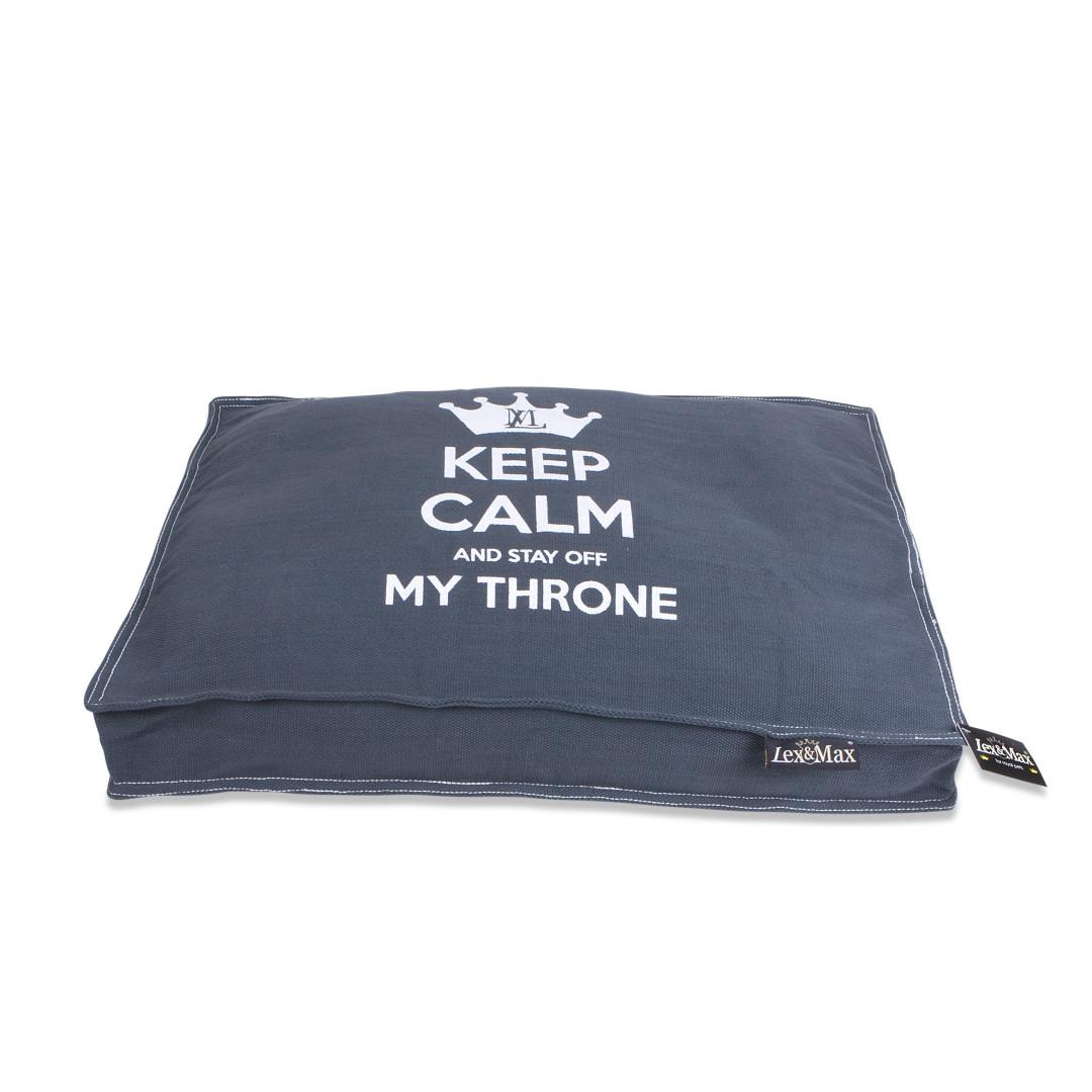 Lex & Max boxbed Keep Calm grijs