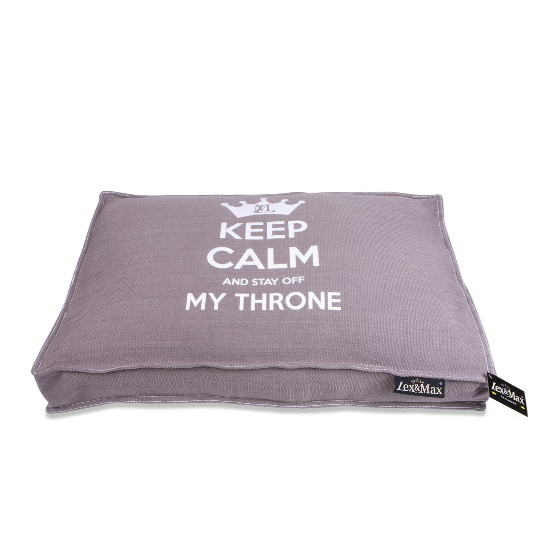 Lex & Max boxbed Keep Calm taupe