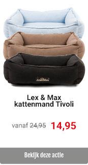 Lex & Max Tivoli kattenmanden voor 14,95
