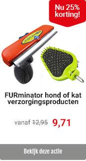 Furminator hond/kat 25% korting