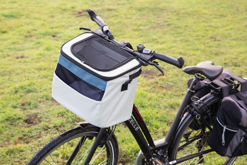 Beeztees fietsmand Xoex grijs/blauw