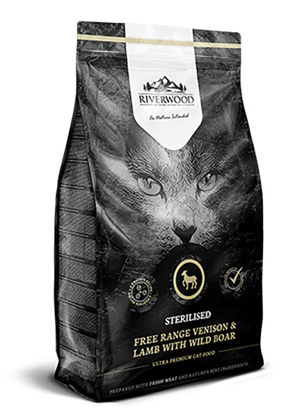 Riverwood kattenvoer Sterilised Venison & Lamb 2 kg