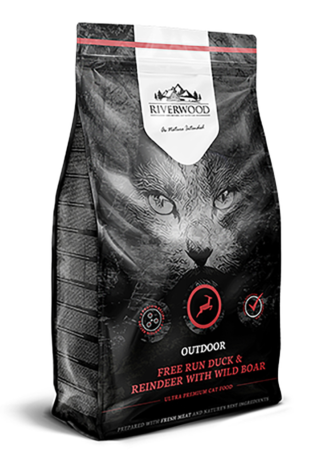 Riverwood kattenvoer Outdoor Duck & Reindeer 2 kg