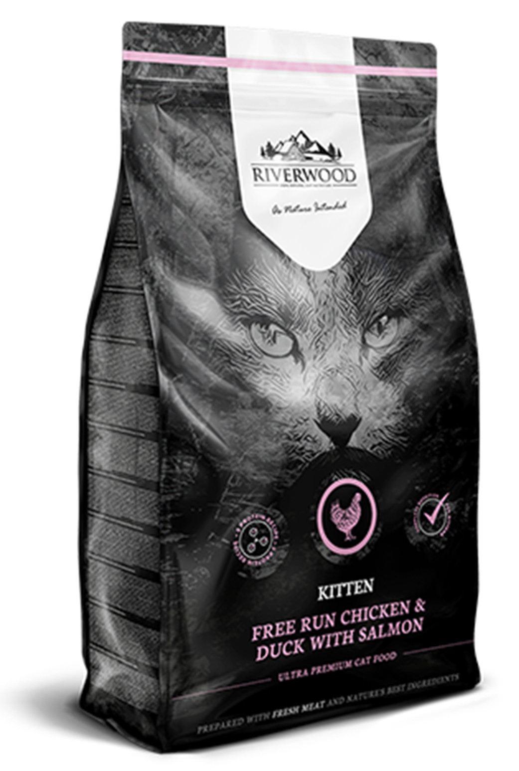 Riverwood kattenvoer Kitten Chicken & Duck <br>2 kg