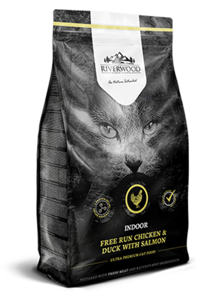 Riverwood kattenvoer Indoor Chicken & Duck 2 kg