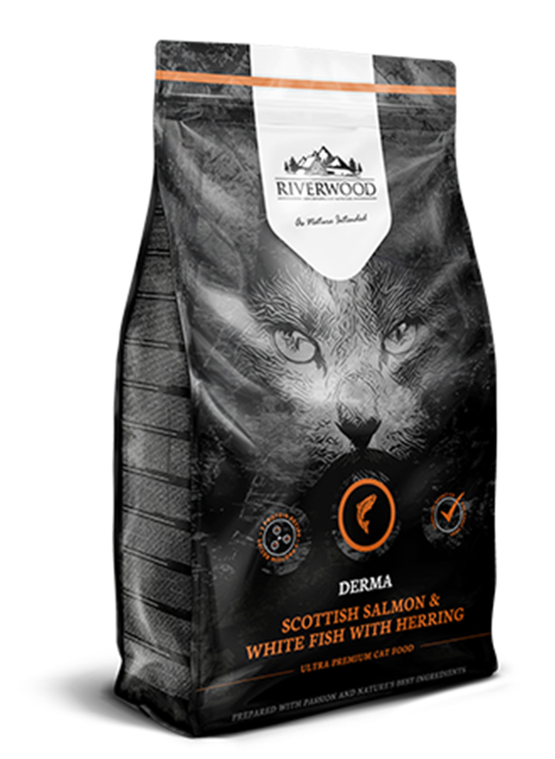 Riverwood kattenvoer Derma Scottish Salmon & White Fish 2 kg