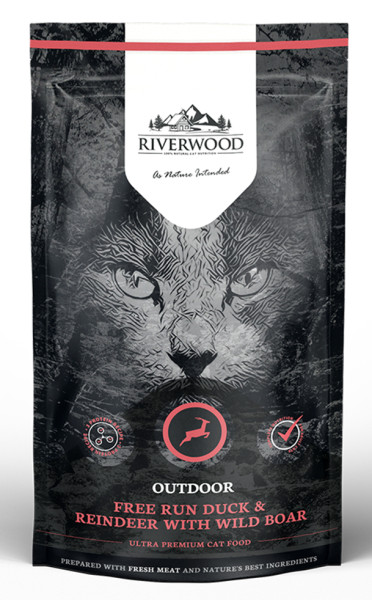 Riverwood kattenvoer Outdoor Duck & Reindeer 300 gr
