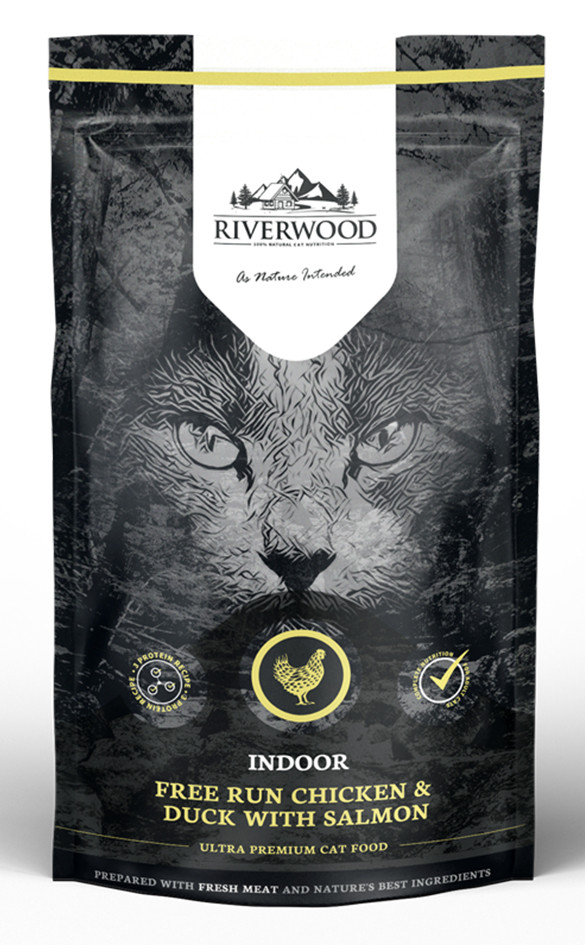Riverwood kattenvoer Indoor Chicken & Duck 300 gr