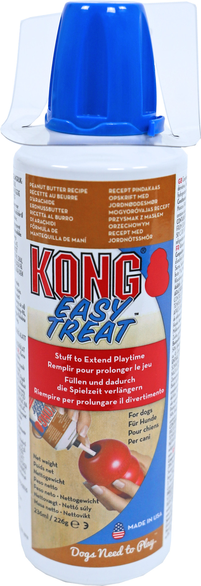Kong spuitbus Easy Treat peanutbutter
