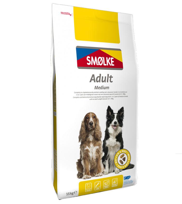 Smølke hondenvoer Adult Medium 15 kg