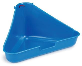 Beeztees hoektoilet voor fretten  blauw