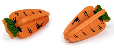 Beeztees houten knaagdierspeeltje wortels