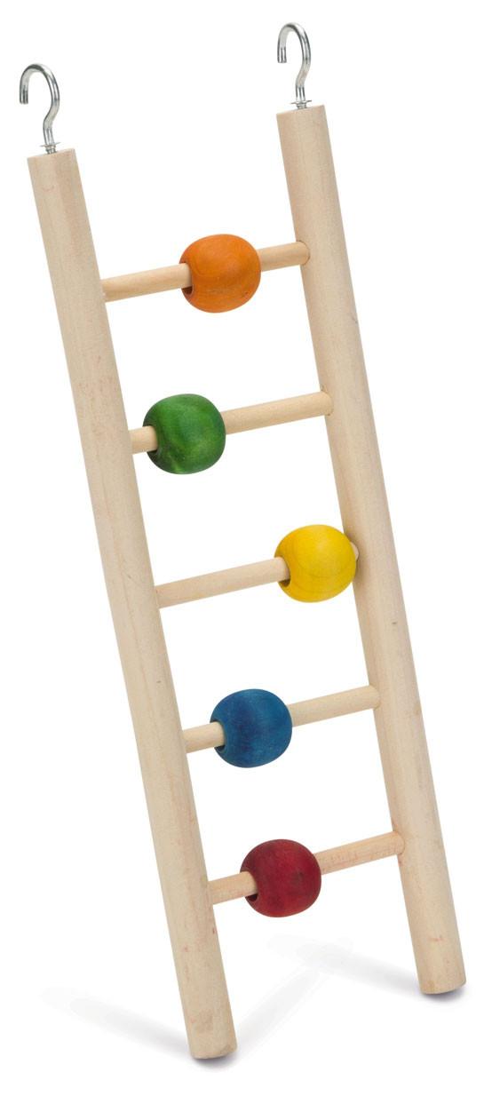 Beeztees houten vogel ladder Beady 5 tredes. 23 cm.