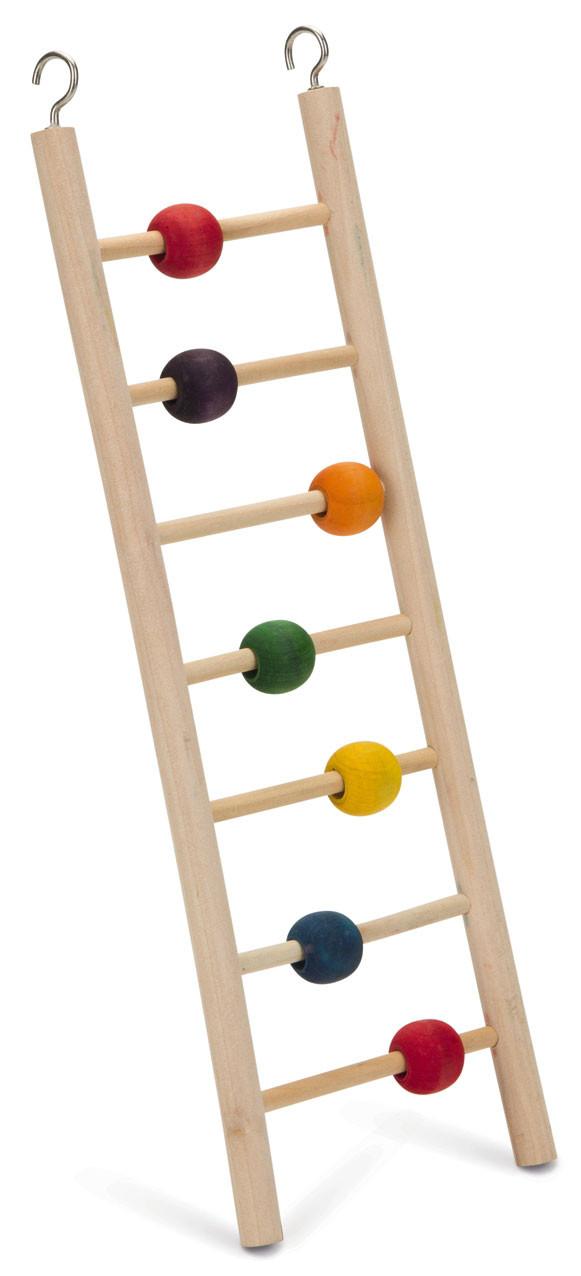 Beeztees houten vogel ladder Beady 7 tredes. 30 cm.