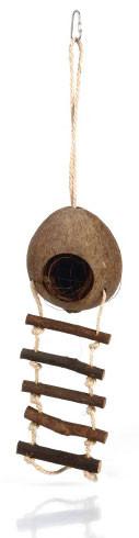Beeztees kokosnoothuisje met ladder