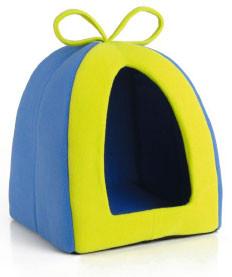 Beeztees speeltent voor knaagdieren blauw/groen