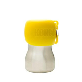 Kong drinkfles voor honden yellow