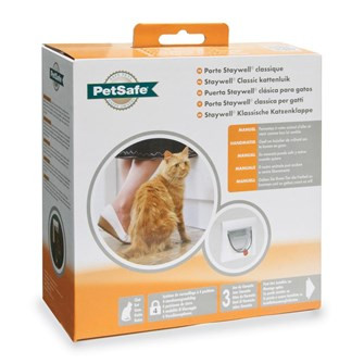 PetSafe Staywell kattenluik Classic Manual 4-Way wit