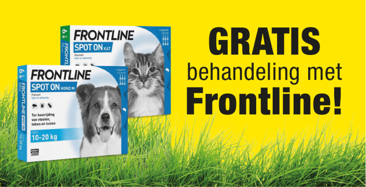 6 april: Gratis behandeling met Frontline