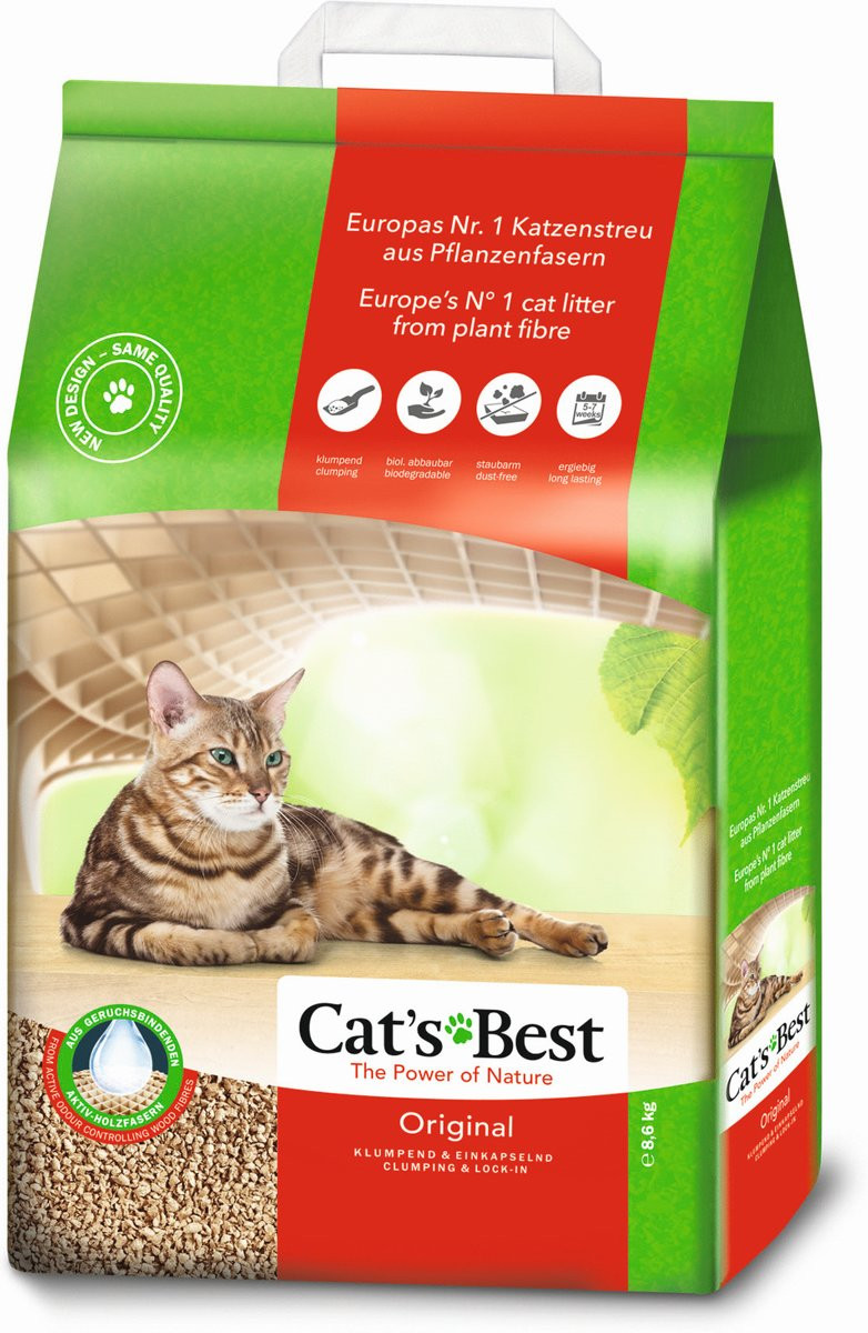 Cat's Best kattenbakvulling Original 8,6 kg