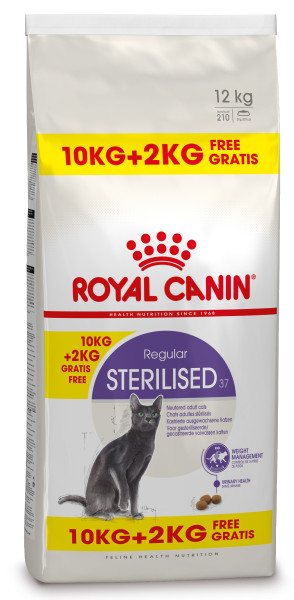 10 + 2 kg Royal Canin kattenvoer Sterilised 37