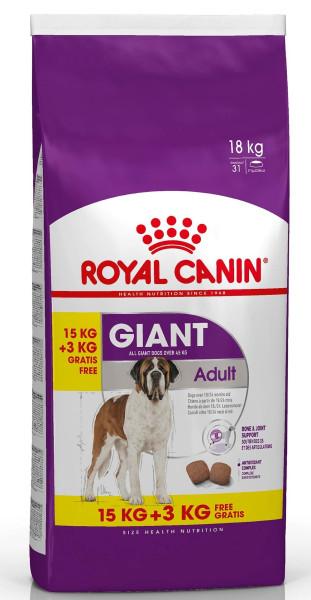 15 + 3 kg Royal Canin hondenvoer Giant Adult