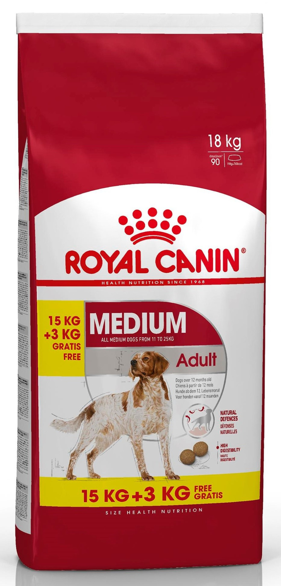 15 + 3 kg Royal Canin hondenvoer Medium Adult