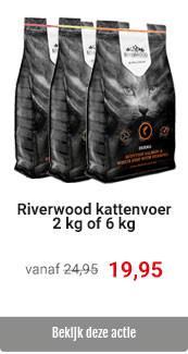 Riverwood kattenvoer 2 kg en 6 kg voor 19.95/49.95