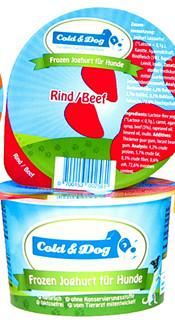 Cold & Dog frozen yoghurt rund/wortel <br>90 ml