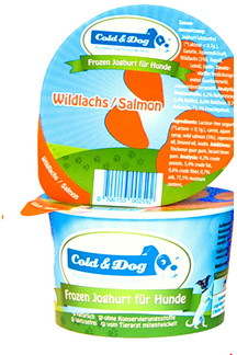 Cold & Dog frozen yoghurt zalm/wortel <br>90 ml
