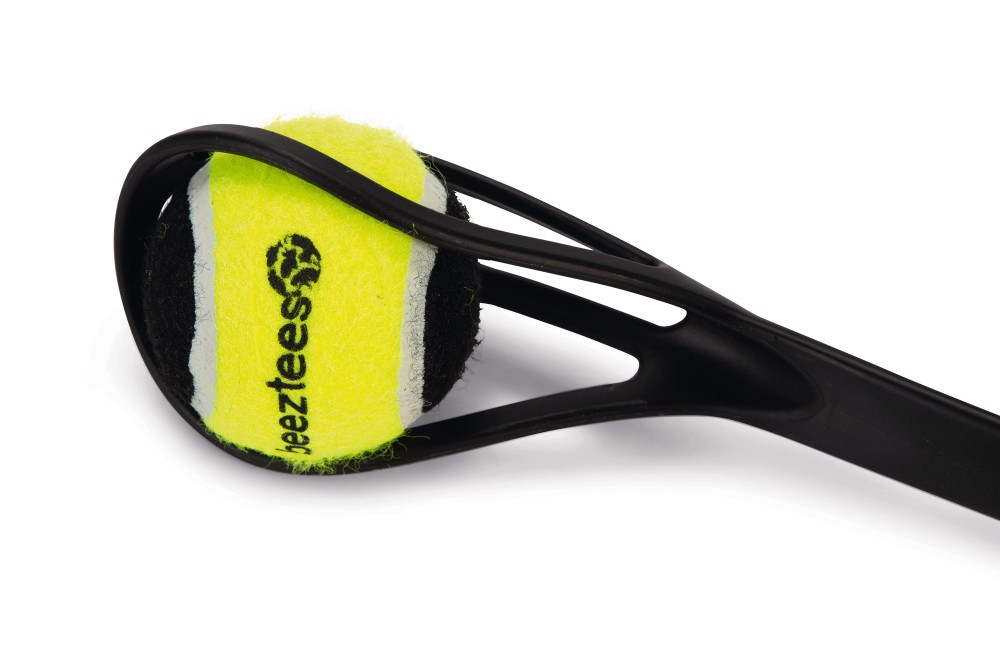 Beeztees Fetch tennisbalwerper zwart