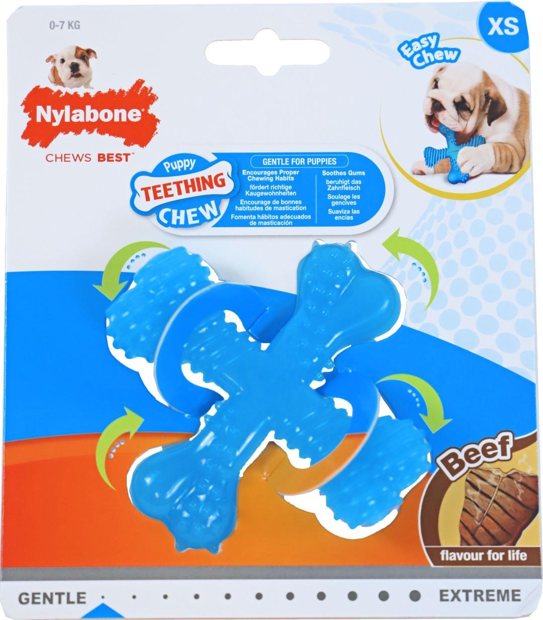 NylaBone Puppy Chew Teething beef XS
