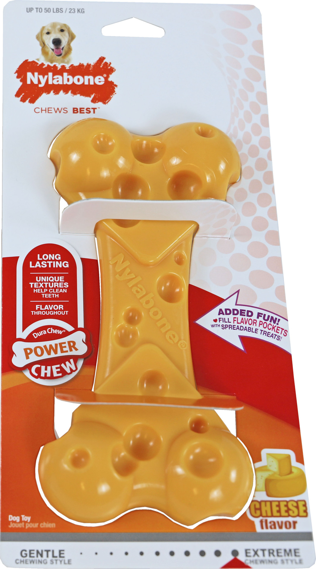 NylaBone Dura Chew Cheese Bone L