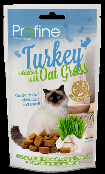 Profine kattensnack Semi Moist turkey en oat grass 50 gr