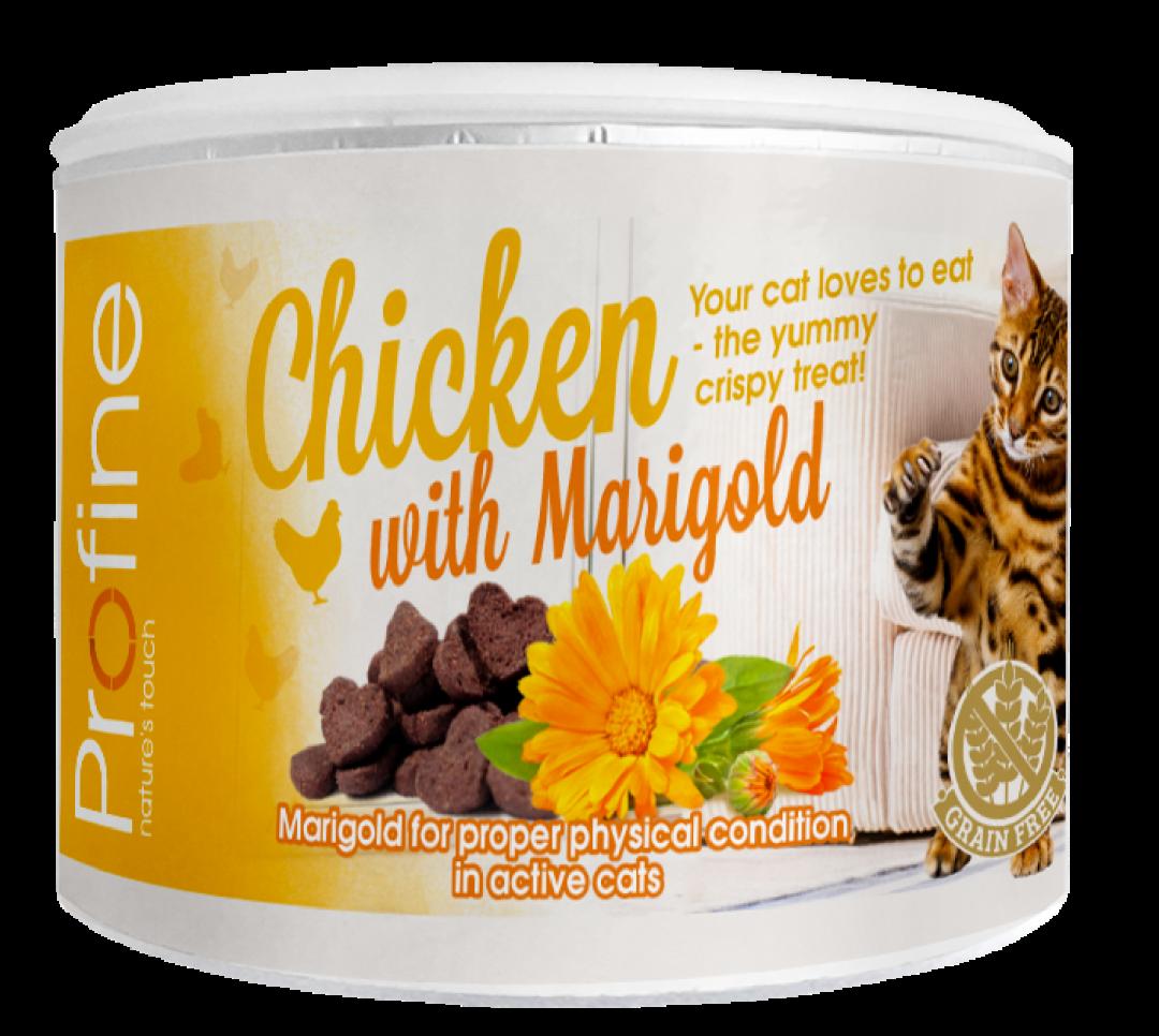 Profine kattensnack Crunchy chicken en marigold 50 gr