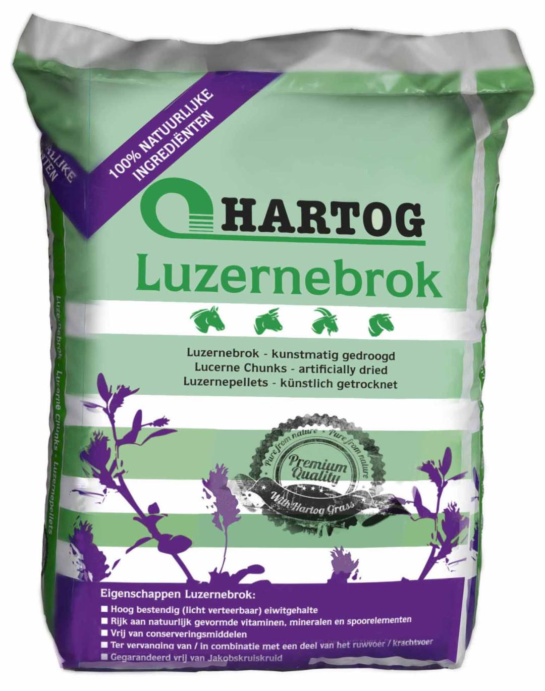 Hartog Luzernebrok groenvoederbrok 20 kg