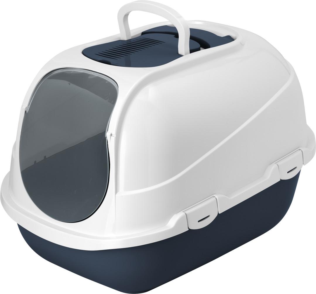 Moderna kattenbak Mega Comfy blueberry/wit