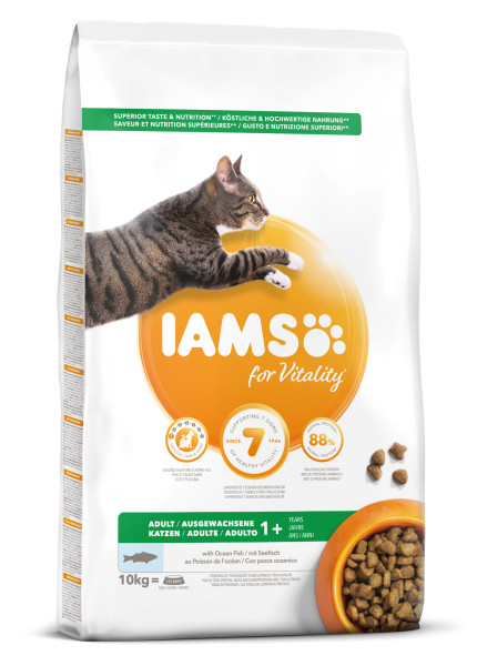 IAMS kattenvoer Adult Fish & Chicken 10 kg