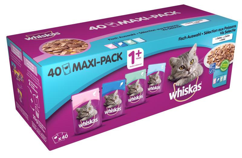 Whiskas kattenvoer Adult Vis selectie in Gelei 40 x 100 gr