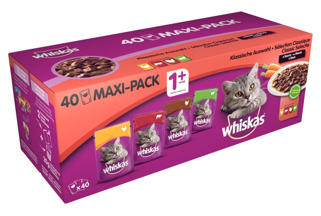 Whiskas kattenvoer Adult Classic selectie in Saus 40 x 100 gr