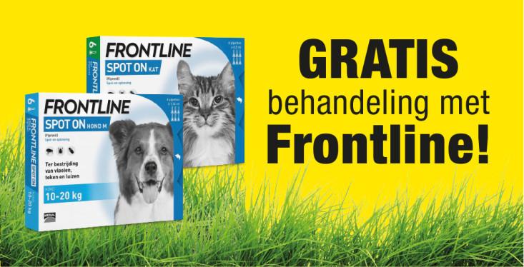 Gratis behandeling met Frontline