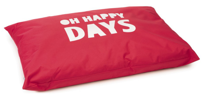 Beeztees loungekussen Happy Days rood