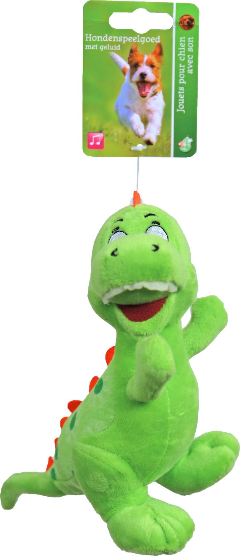Dino groen met piep <br>15 cm