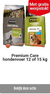 Premium Care 12 + 15 kg met gratis werpstok