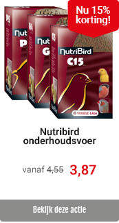 Nutribird vogelvoer 15% korting