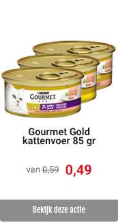 Gourmet Gold kattenvoer voor € 0.49